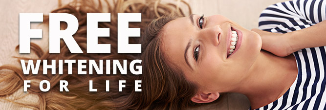 Free teeth whitening for life special